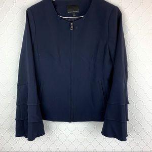 BANANA REPUBLIC Bell Flare Sleeves Zip Blazer 10